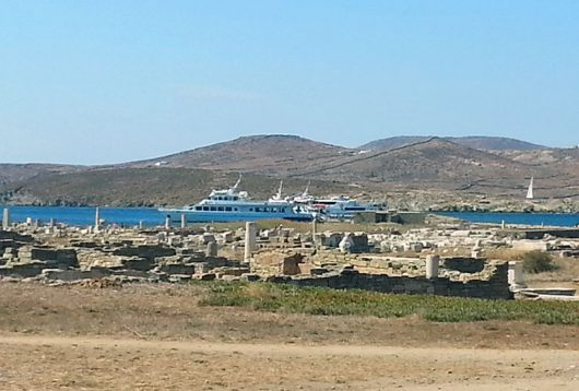 Ausflug in die archäologischen Stätten auf Delos