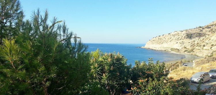 Blick vom Balkon des Big Blue Hotels Myrtos