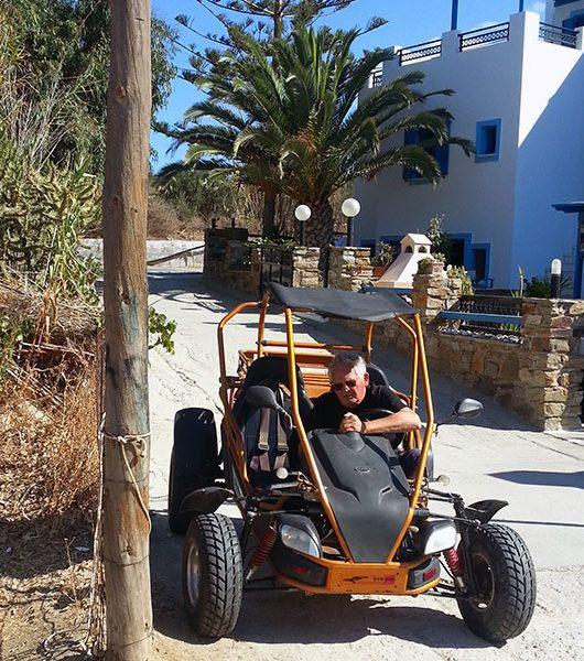 Unterwegs mit dem Buggy auf Naxos