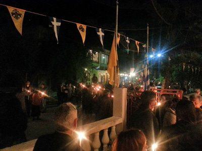 Wir feiern Ostern Nahe Myrtos.