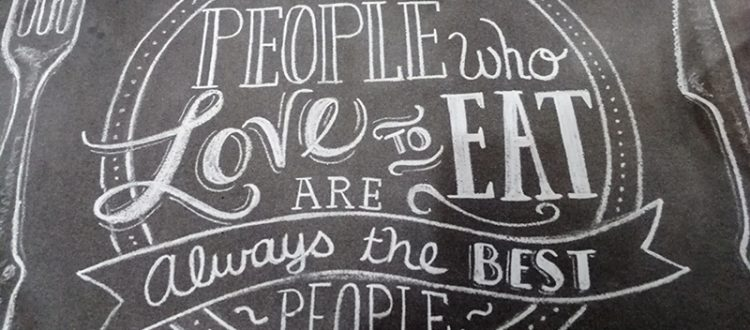 people who loves to eat are always the best