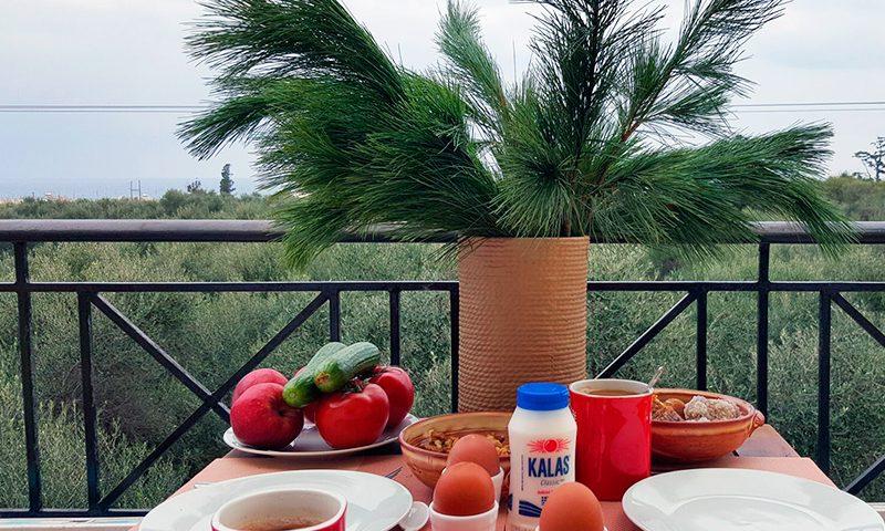 Frühstück zu Hause auf Kreta