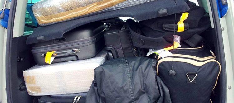 Skoda Roomster Kofferraum mit Gepäck