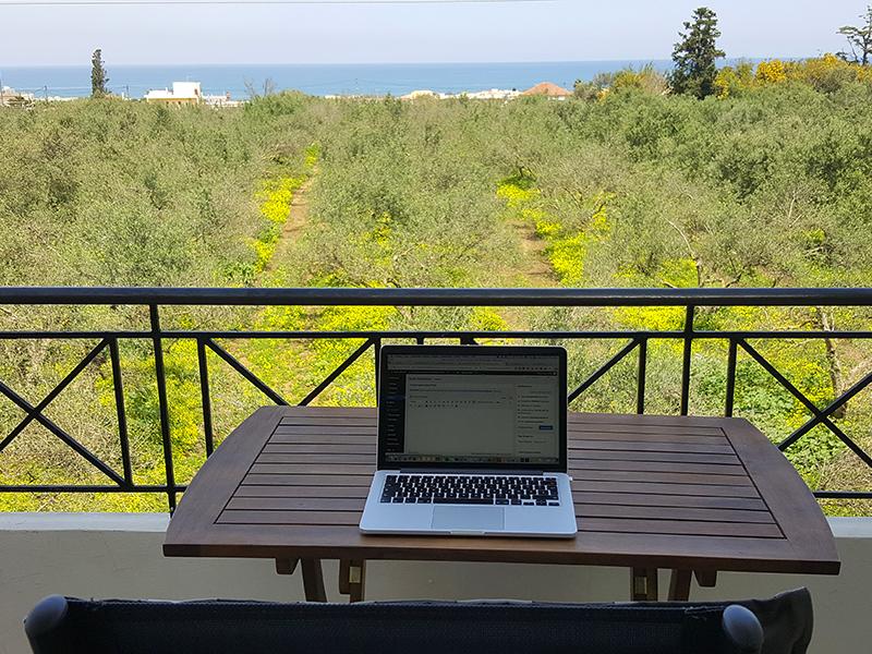 Home-Office auf Kreta