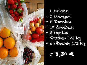 Gemüse und Obst in Maleme