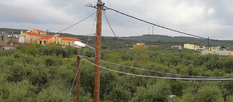 Strommasten vor unserem Haus
