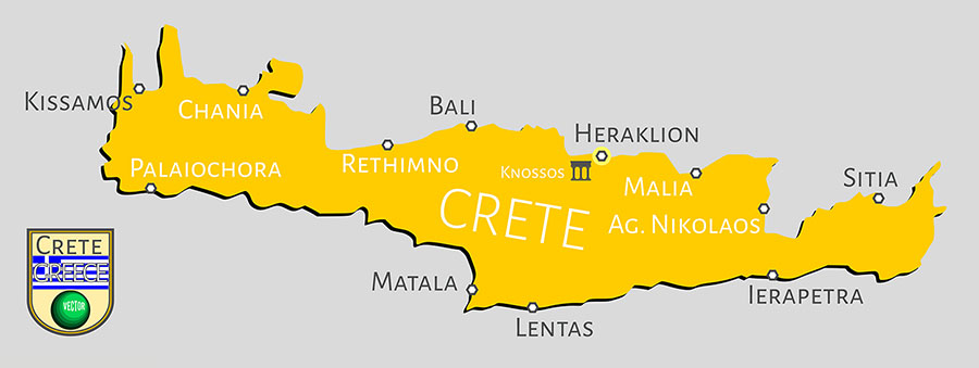 Kreta Übersichtskarte