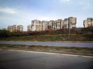 Sofia von der Autobahn aus