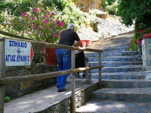Rollstuhl-taugliche Zufahrten auf Kreta