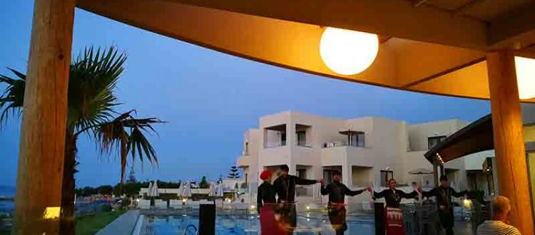 Griechischer Abend im Blue Dome Hotel in Platanias