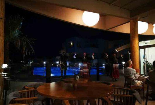 Griechischer Abedn im Blue Dome Hotel in Platanias