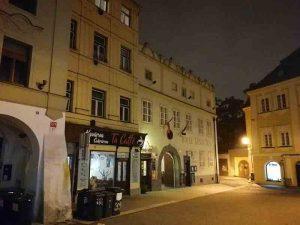 Hotel Zatkuv dum in der Altstadt von Budweis