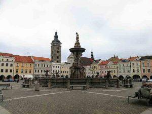 Marktplatz in der Innenstadt von Budweis