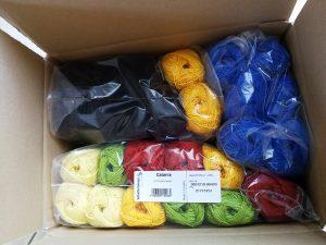 Wolle per DHL geliefert