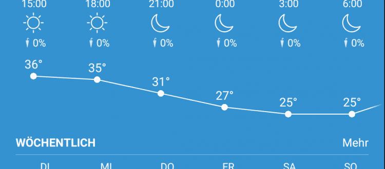 Wetterbericht 29.06.2021