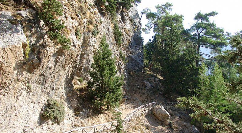 Samaria-Schlucht Nähe Einstieg
